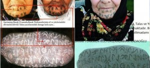 kadınlardaki dövmelerde runik orhun harfleri