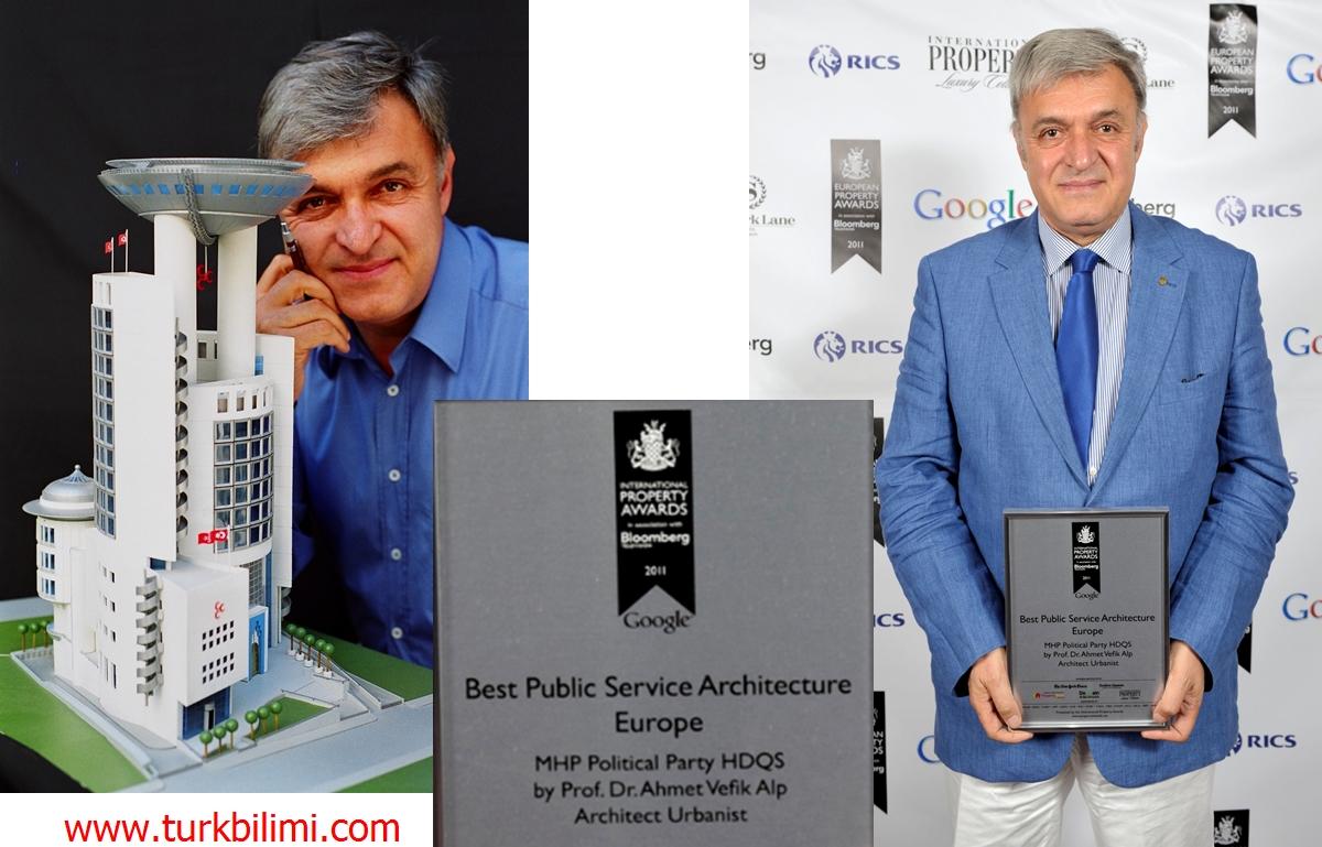 Prof. Dr. AHMET VEFİK ALP'İN PROJESİ MHP'nin Genel Merkezi Avrupa şampiyonu oldu