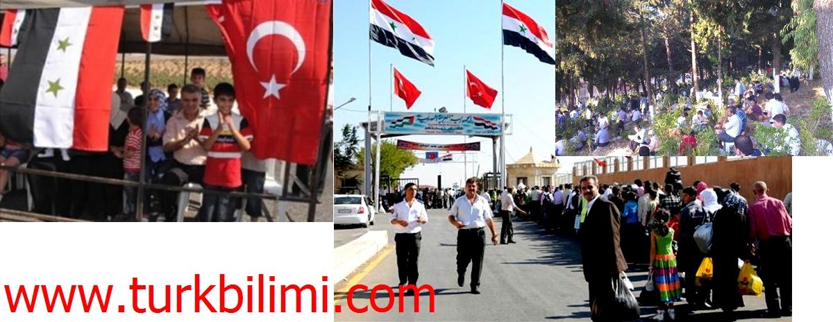 Suriye-Türkiye sınırında bayramlaşma