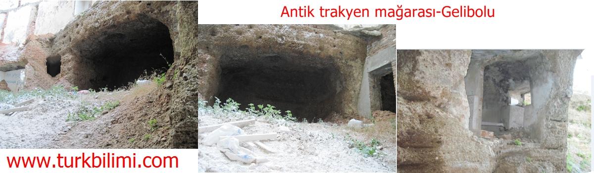 gelibolu-antik trakyen kaya oyma  mağarası
