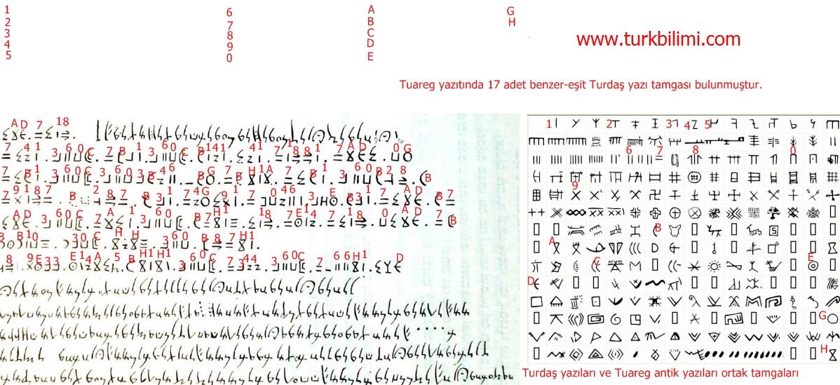 Tuareg-Turdaş yazı-tamga bağları