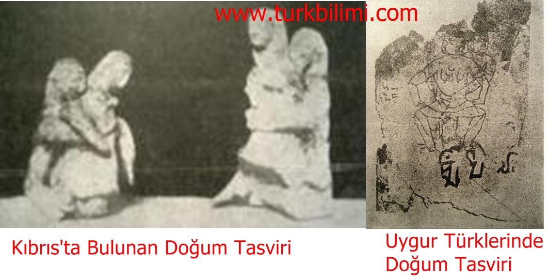 kıbrısta bulunuan ve uygur türklerine doğum tasviri