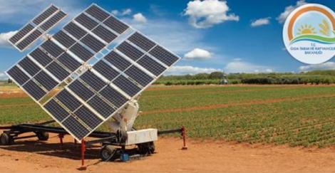 güneş-elektrik panelli sulama sistemi