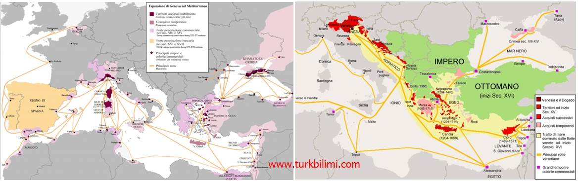 osmanlı imparatorluğunda venedik ve ceneviz hakimiyeti