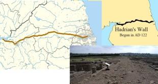 Hadrian duvarı haritası