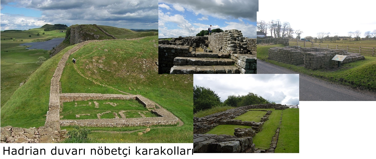 Hadrian duvarı nöbetçi karakolları