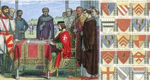 Magna Carta antlaşmasında baronlar ve armaları