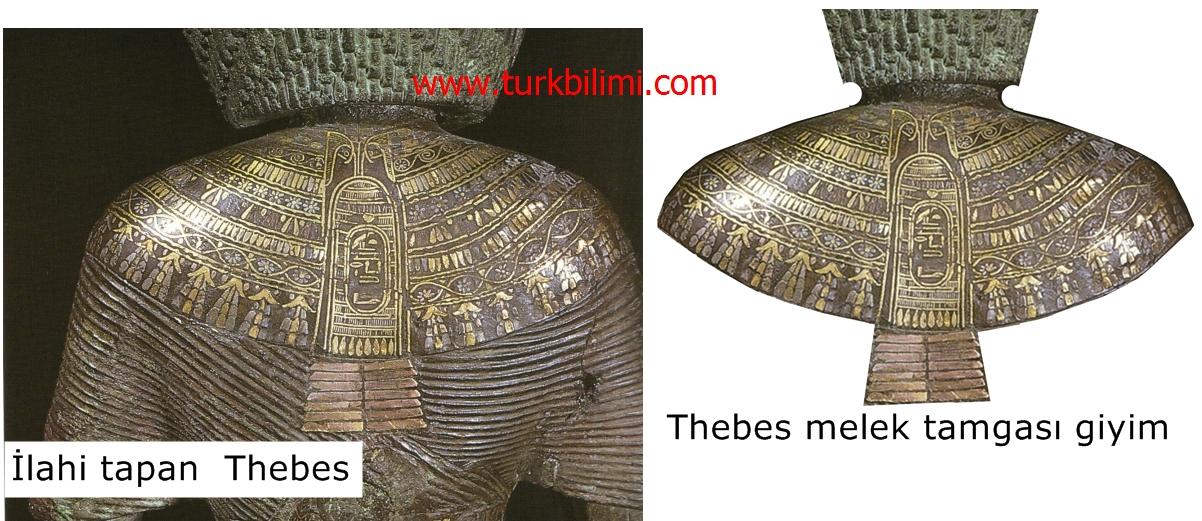 Tebes ; ilahi tapan, Mısır tarihinde bilge bir kadın- melek tamgası giyim