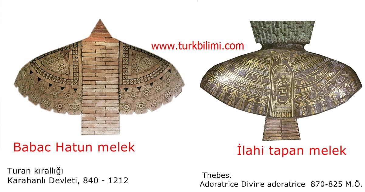 Tebes ve Turan kırallığında melek tamgaları-
