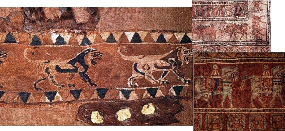koyunlarda doğal renkli yünler ile yapılan antik kumaşlar