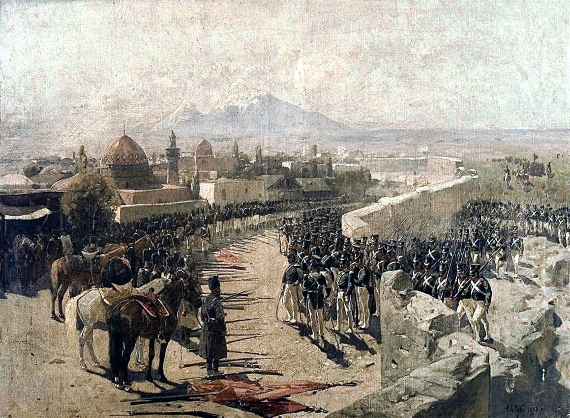 Erivan Kalesi'nin Çarlık ordusu tarafından kuşatılması.1827_(by_Franz_Roubaud)