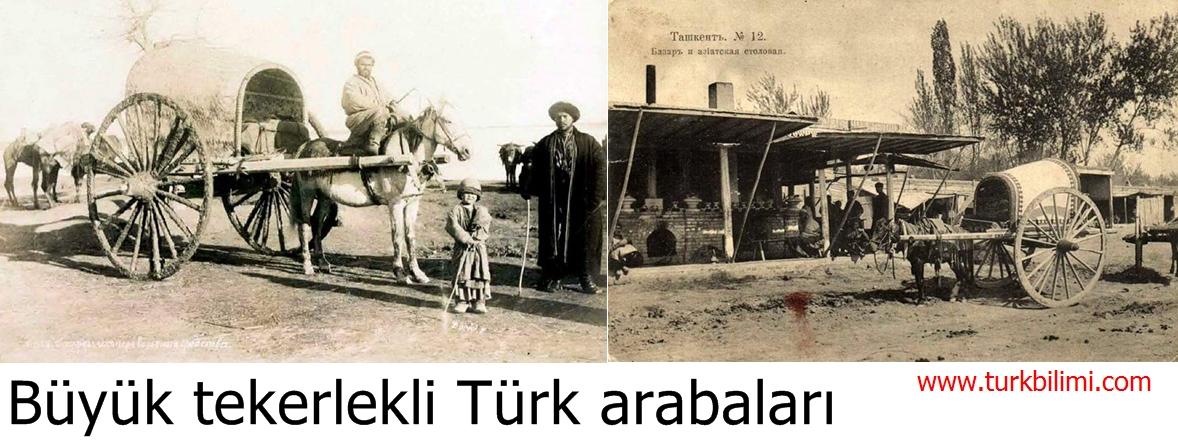 Büyük tekerlekli Türk arabaları
