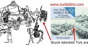 Büyük tekerlekli Türk arabalarının deve ile çekilmesi