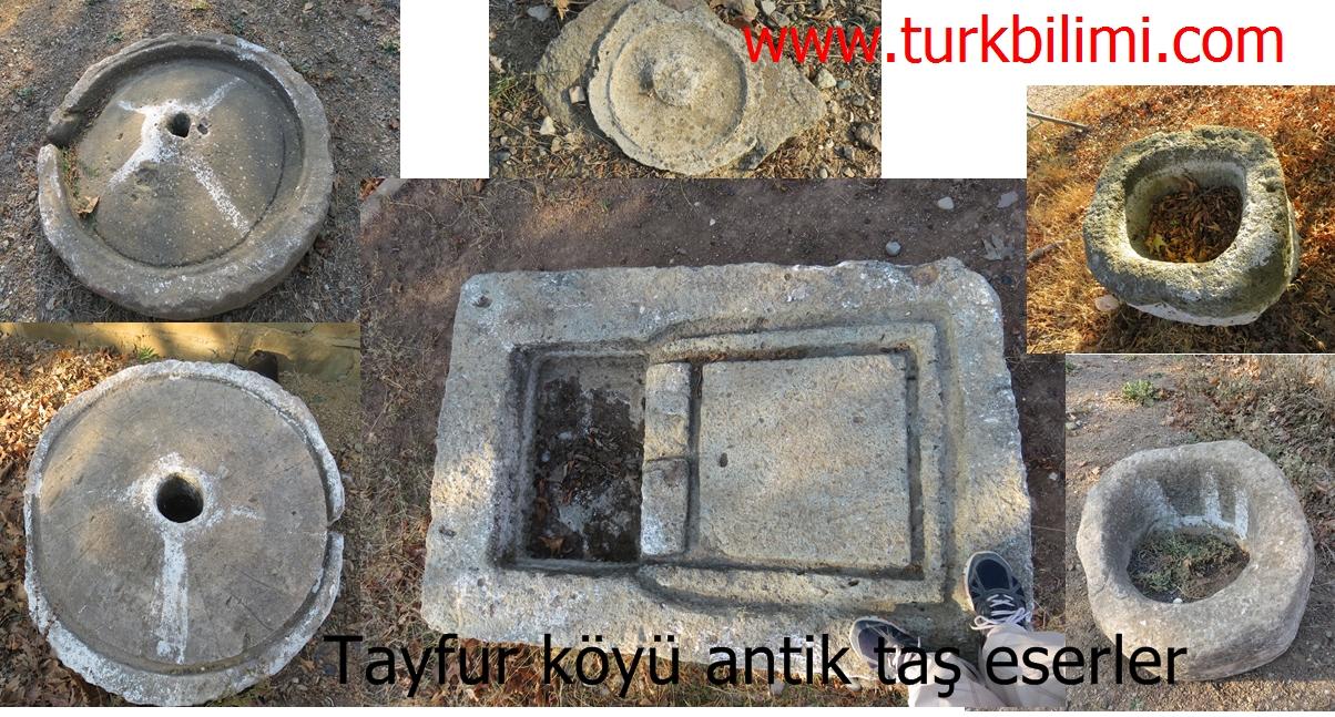 Tayfur köyü antik taş eserler