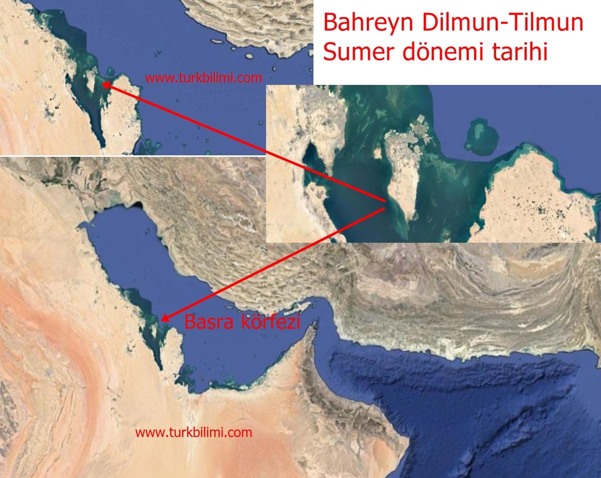 Bahreyn Dilmun-Tilmun, Sumer dönemi tarihi harita