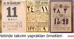 Osmanlı devletinde takvim yaprakları örnekleri