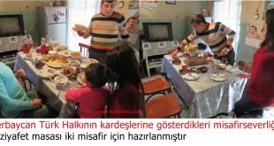 Azerbaycan Türk Halkının kardeşlerine gösterdikleri misafirseverliği