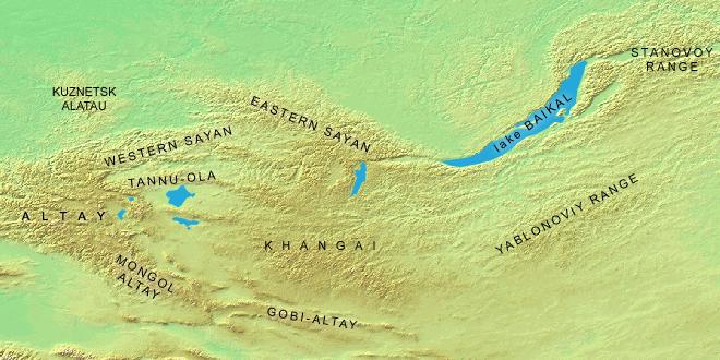 Sayan Dağları; Türklerin doğuş efsanesi, Ergenekon'un coğrafyası