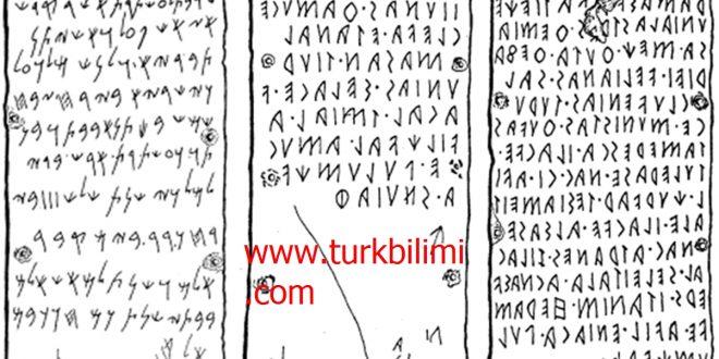 İtalyada Etrüsk dönemindeki iki dilli alfabe belgesi.