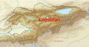 Tanrı Dağları'nın batısında tanrının kutsal dağı Süleyman Dağı, Kırgızistan – Oş