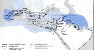 İspanyol Yahudi seyyah Benjamin Tudela'nın seyahati (1173)