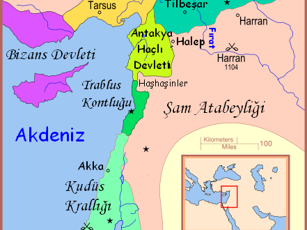 Kurtlar-Böriler ve Büyük Selçuklu Devleti'ne tabi Şam Atabeyliği 1104-1154.