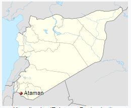 Güney Suriye'de antik Harran bölgesi ve bir Türk yerleşim yeri Ataman