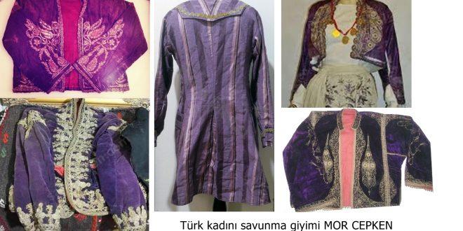 Türk kadınlarının hürrüyet hakkı MOR CEPKEN; savunma çeyizi.